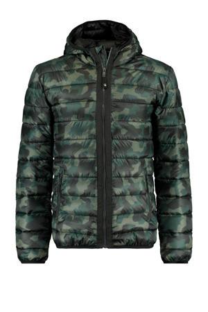 jack tussen Jester met camouflageprint groen