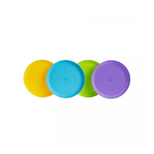 gekleurde bordjes (4 stuks)