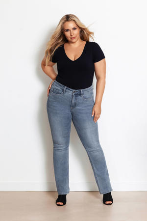 BILI light denim high rise fit bootcut jeans