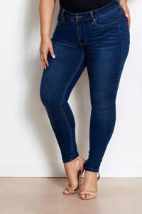 Fox Factor NIKI Rocky Blue dark denim high rise fit skinny jeans, Dark denim stonewashed