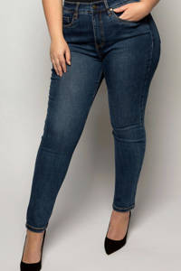 Fox Factor IRI Eagle Blue high waist slim fit jeans dark denim stonewashed, Dark denim stonewashed