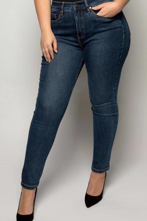 IRI Eagle Blue high waist slim fit jeans dark denim stonewashed