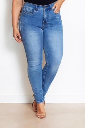 IRI Royal Blue high waist slim fit jeans light denim stonewashed