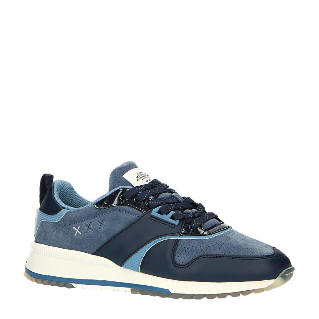 Scotch & Soda Vivex  suède sneakers blauw, Blauw