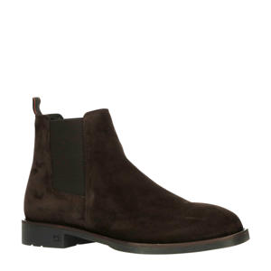 Picaro  suède chelsea boots donkerbruin