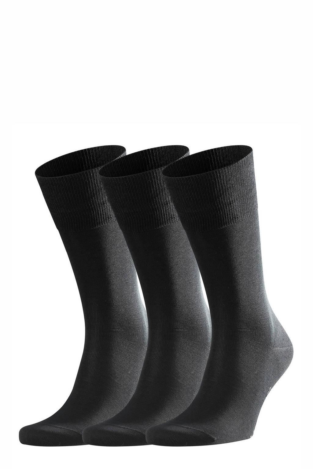 FALKE Tiago Bundle sokken - set van 3 zwart, Zwart