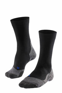 FALKE TK2 Cool wandelsokken zwart, Zwart/grijs