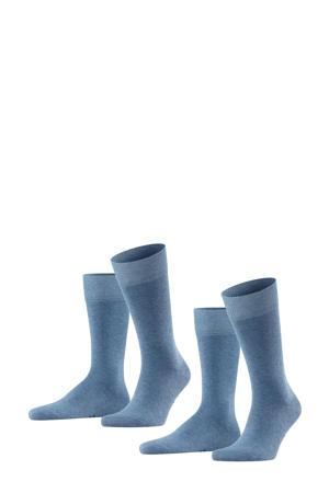 Happy sokken - set van 2 denim
