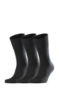 FALKE Run sokken - set van 3 zwart, Zwart