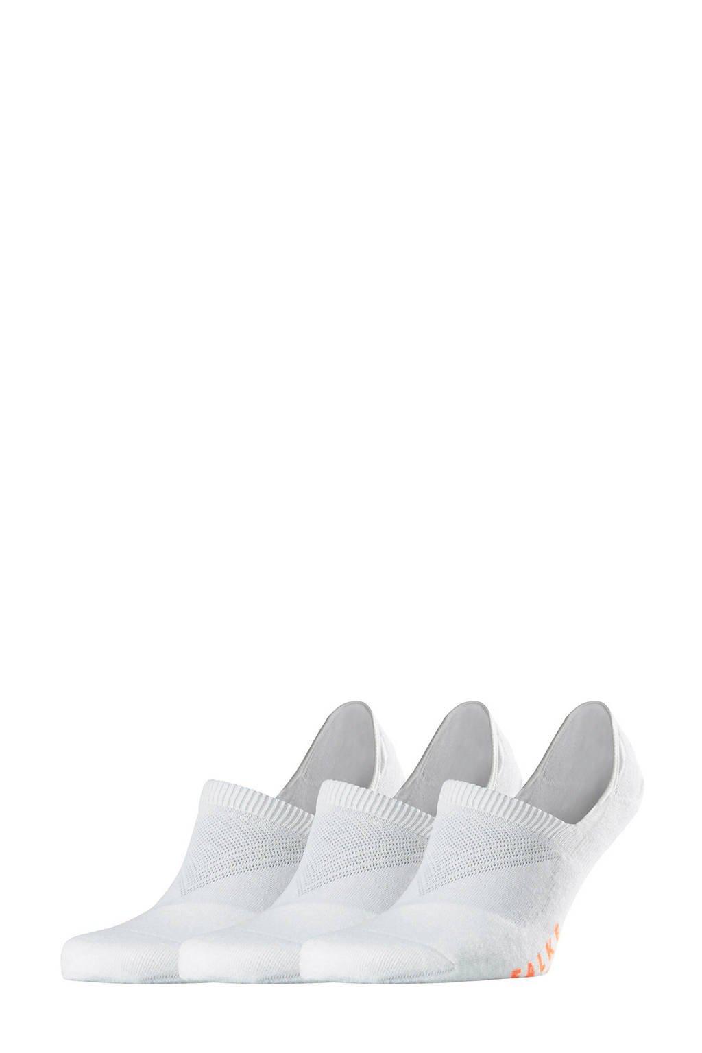 FALKE Cool Kick Invisible sneakersokken - set van 3 wit, Wit