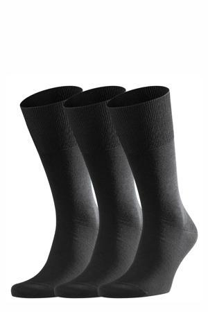 Airport sokken - set van 3 zwart