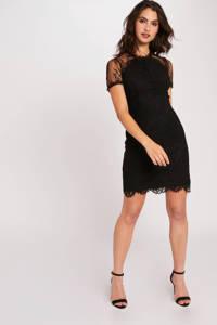 Morgan jurk met kant zwart, Zwart