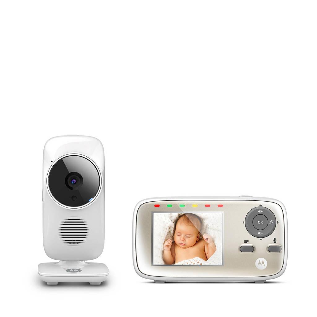 """Motorola MBP-483 babyfoon met camera en 2.8"""" kleurenscherm, Wit"""