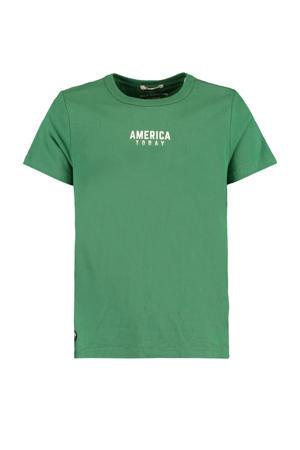 T-shirt Easton met logo groen