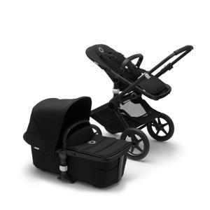 Fox 2 kinderwagen/stoel /reiswieg, zwart frame/zwarte stof/zwarte zonnekap