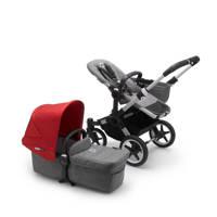 Bugaboo Donkey 3 Mono kinderwagen/stoel/reiswieg , aluminium frame/gemȇleerd grijze stof/rode zonnekap, aluminium frame, gem?leerd grijze stof en rode zonnekap