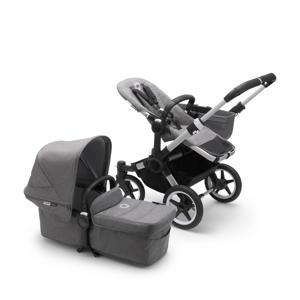 Donkey 3 Mono 3-in-1 kinderwagen , aluminium frame/grijsmelange stof/zonnekap