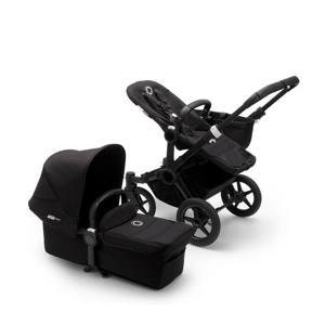 Donkey 3 Mono kinderwagen/stoel/reiswieg , zwart frame/zwarte stof/zwarte zonnekap
