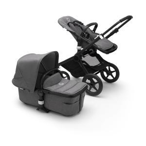Fox 2 2-in-1 kinderwagen, zwart frame/gemȇleerd grijze stof