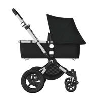Bugaboo Cameleon 3 plus kinderwagen/stoel/reiswieg, aluminium frame/zwarte stof/zwarte zonnekap, aluminium frame, zwarte stof en zwarte zonnekap