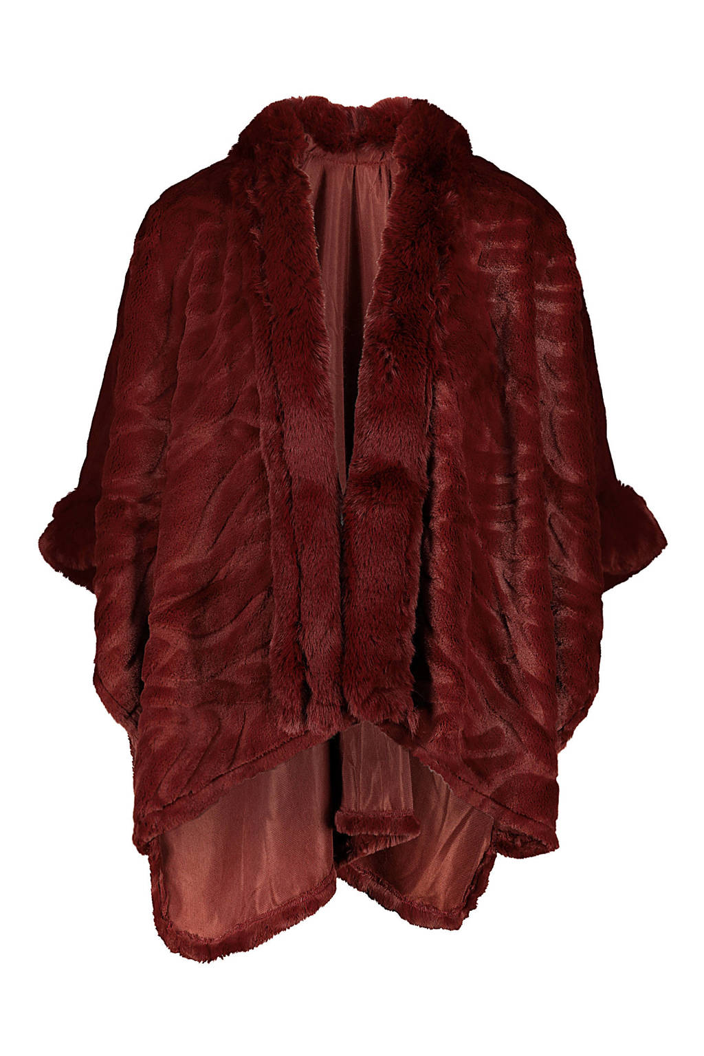 Cassis poncho donkerrood, Bordeaux