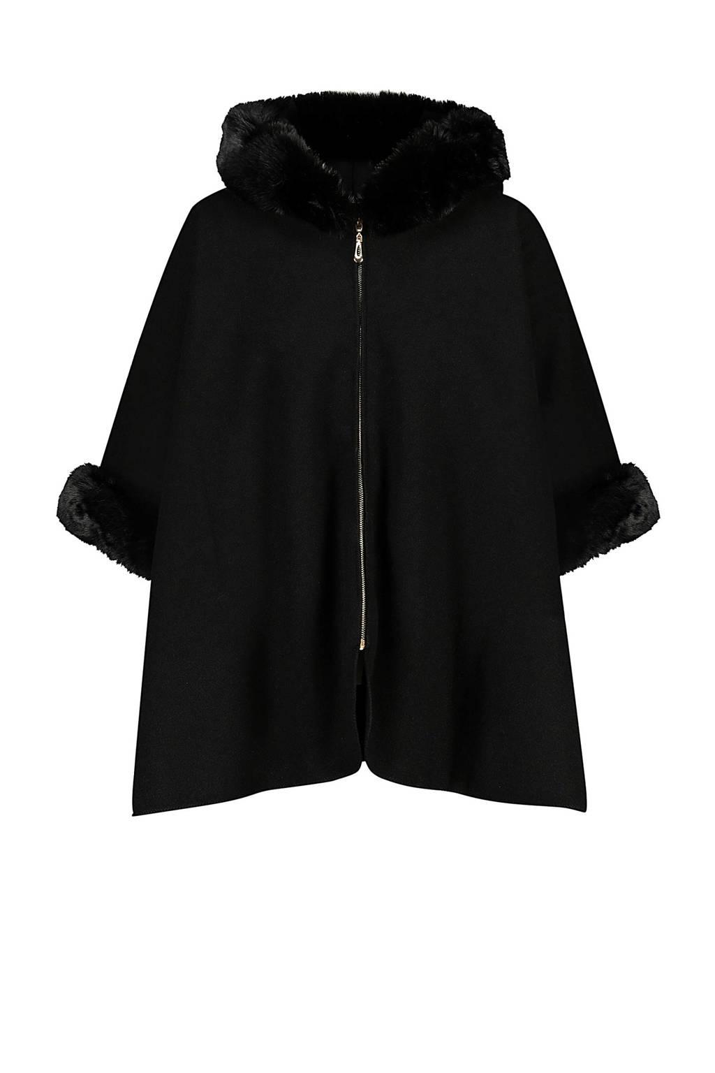 Cassis poncho zwart, Zwart