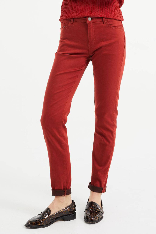 WE Fashion Blue Ridge skinny jeans rood, Rood