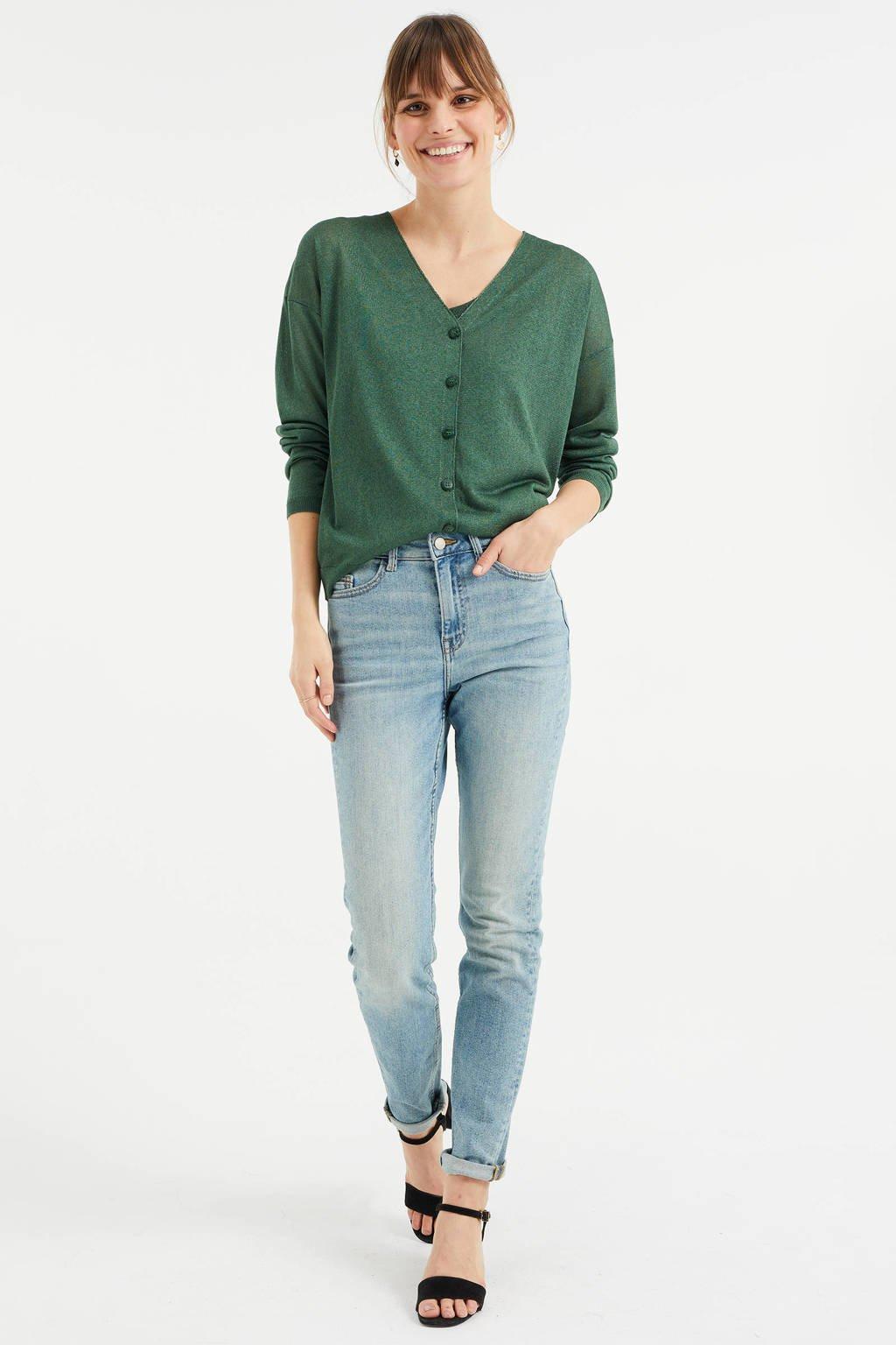 WE Fashion Blue Ridge slim fit jeans sea green, Sea Green