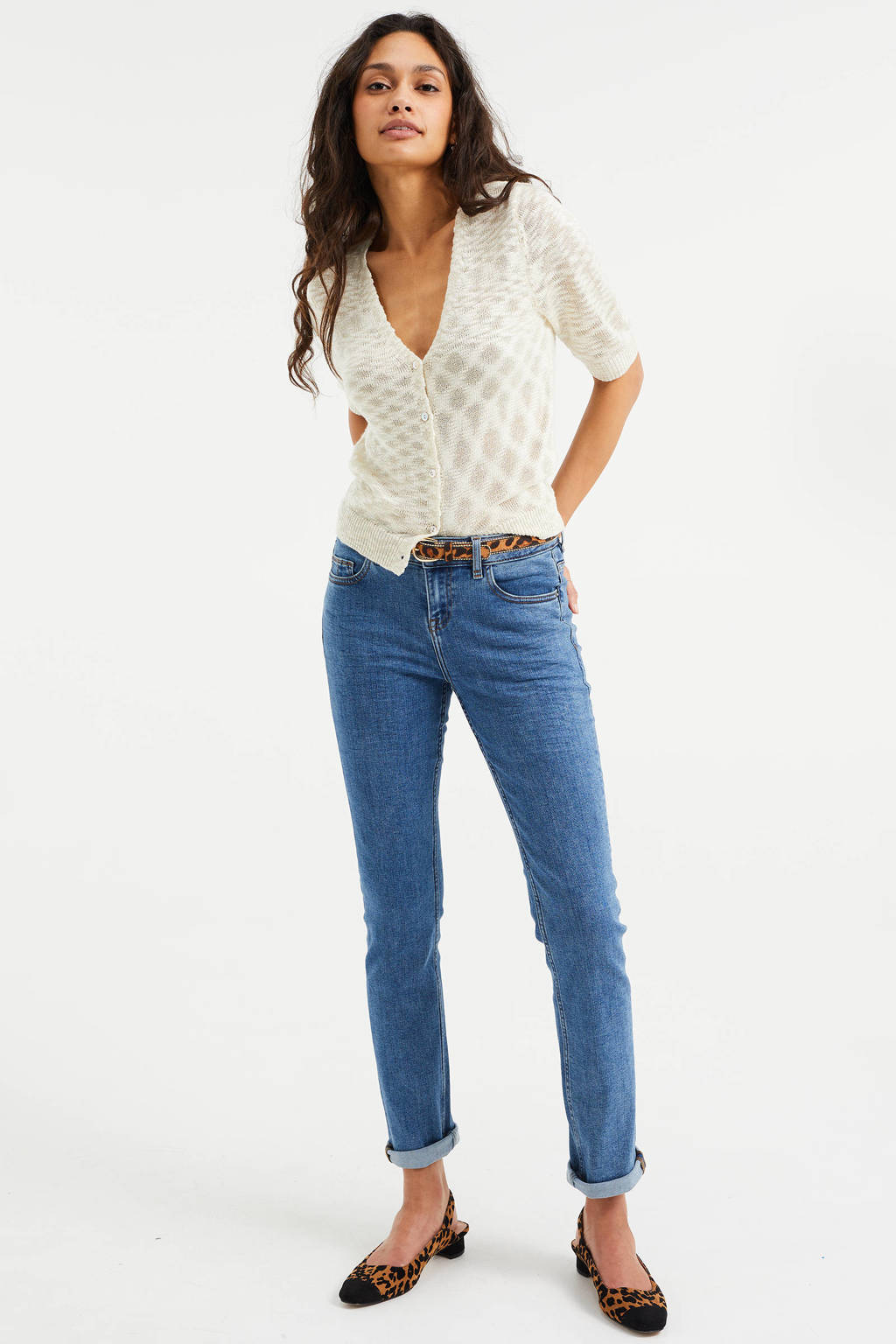 WE Fashion Blue Ridge slim fit jeans sky blue, Sky blue