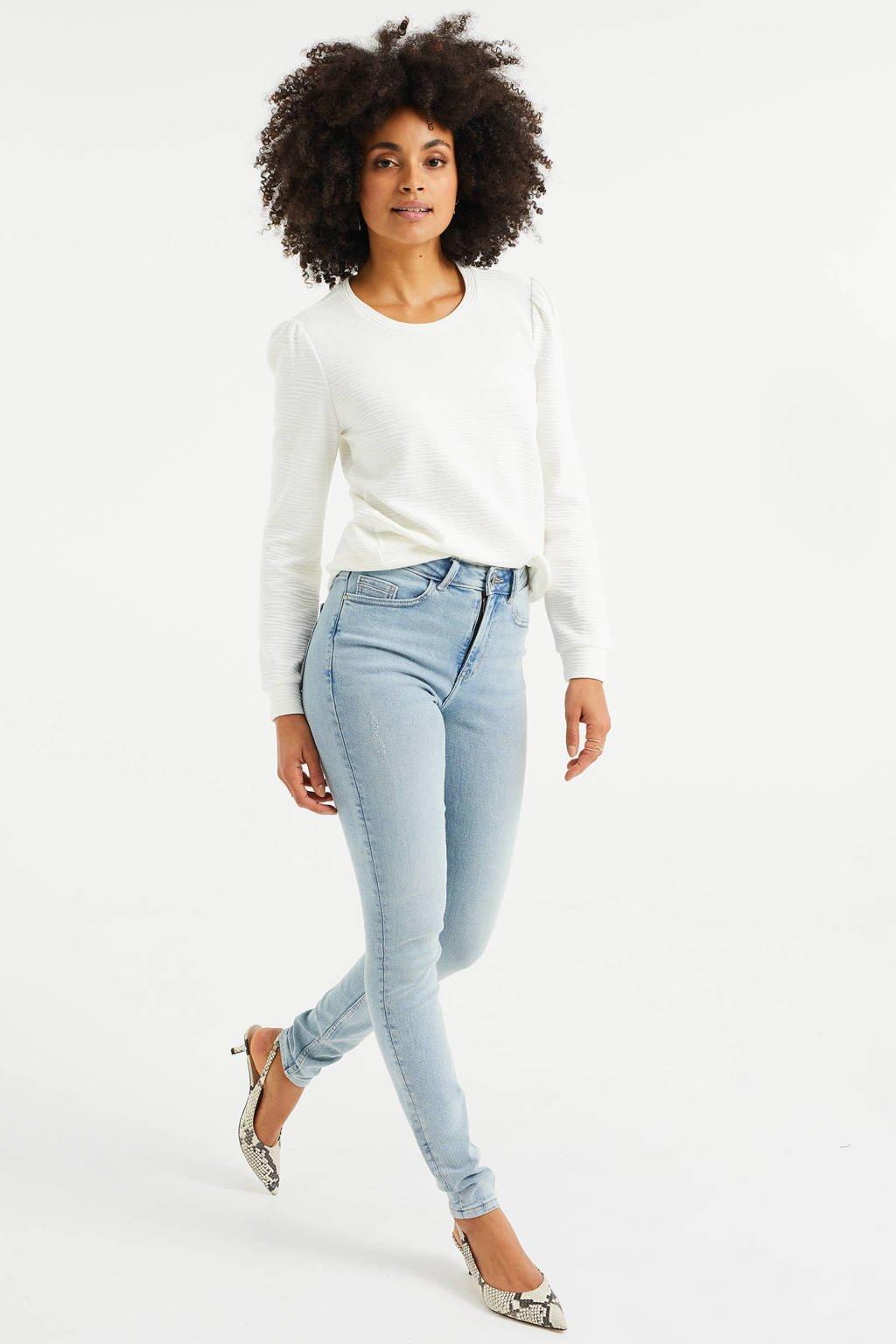 WE Fashion Blue Ridge high waist skinny jeans light denim, Light denim