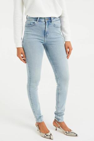 high waist skinny jeans light denim