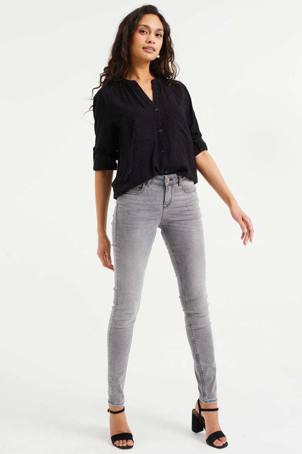 WE Fashion Blue Ridge slim fit jeans lichtgrijs, Lichtgrijs