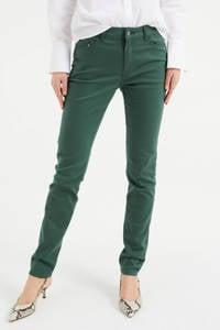 WE Fashion Blue Ridge skinny jeans donkergroen, Donkergroen
