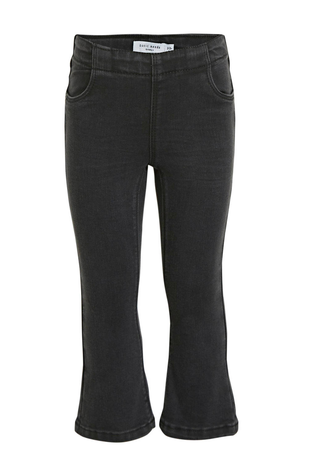 NAME IT MINI flared broek Polly zwart, Zwart