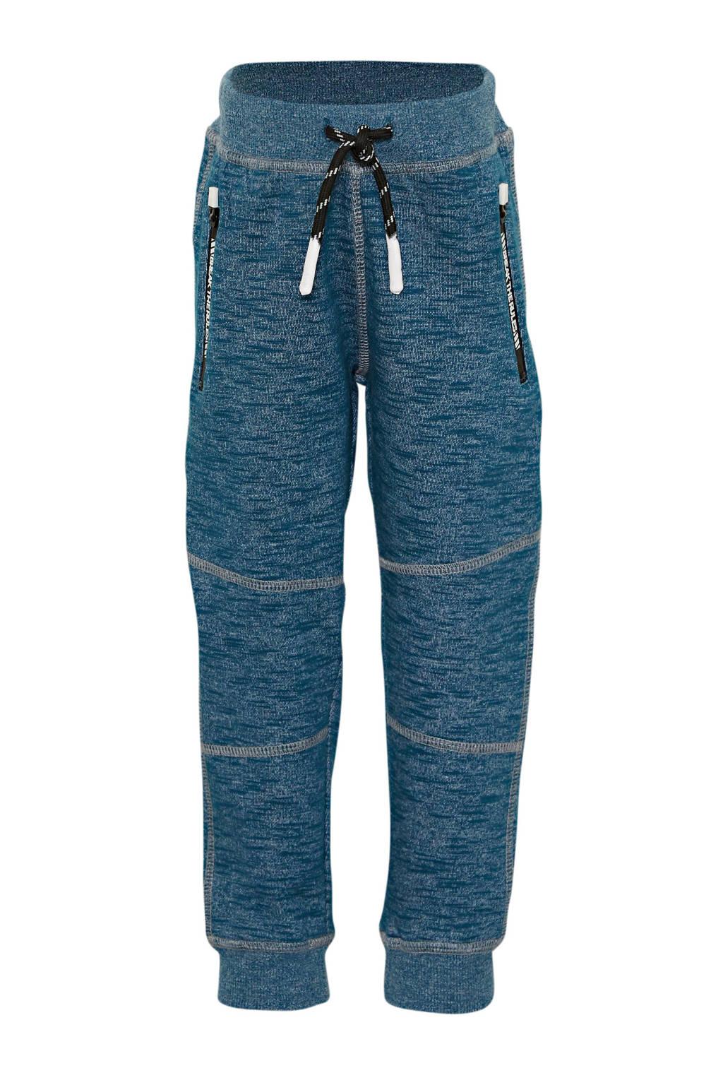 NAME IT MINI gemêleerde joggingbroek Namic met biologisch katoen blauw, Blauw