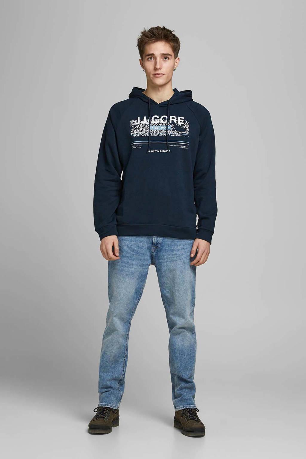 JACK & JONES CORE hoodie met printopdruk donkerblauw, Donkerblauw