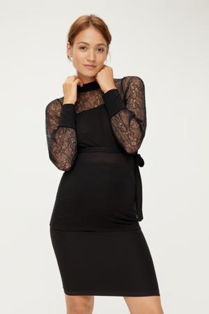 zwangerschapsblouse Acacia van gerecycled polyester zwart