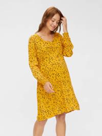 MAMALICIOUS zwangerschapsjurk Heartsy met all over print geel, Geel