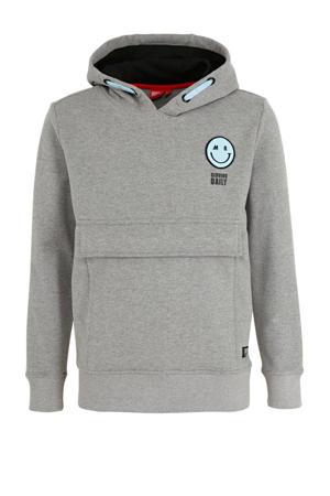 hoodie Harris met printopdruk grijs melange