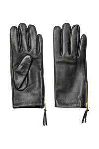 SELECTED FEMME leren handschoenen zwart, Zwart