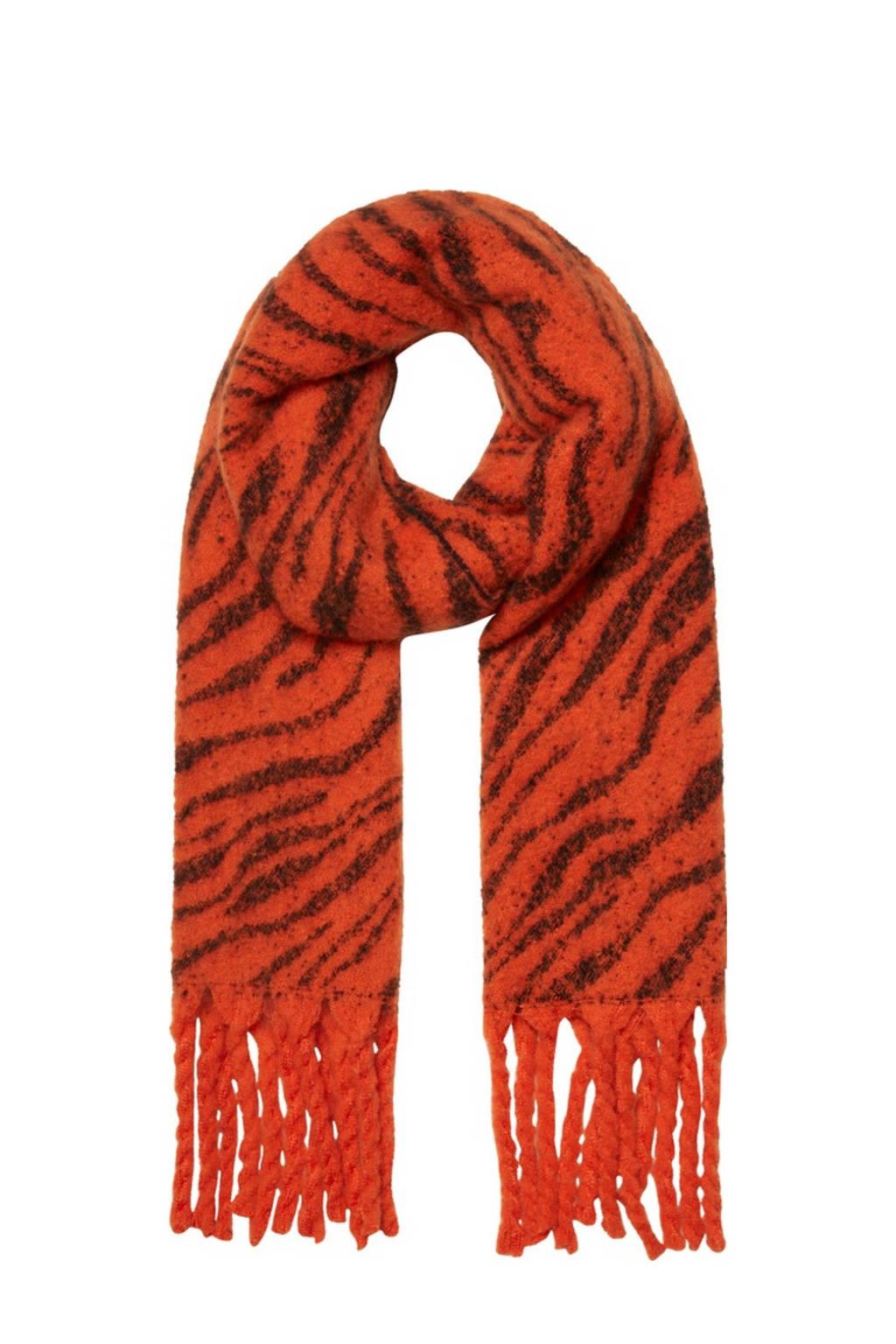 VERO MODA gestreepte sjaal rood, Rood