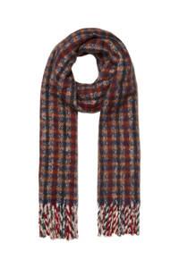 VERO MODA sjaal rood/donkerblauw, Rood/donkerblauw