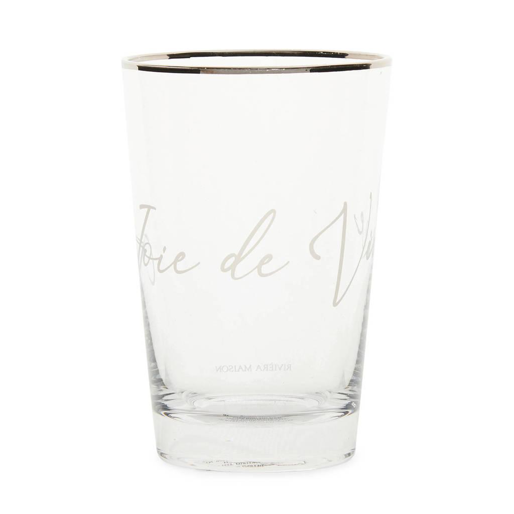 Riviera Maison waterglas Joie De Vivre S  (Ø7,7 cm)