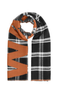 PIECES sjaal zwart/bruin, Zwart/bruin