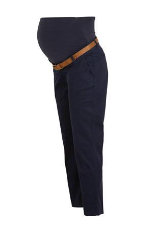 high waist slim fit zwangerschapschino donkerblauw