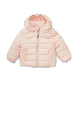 baby gewatteerde jas lichtroze