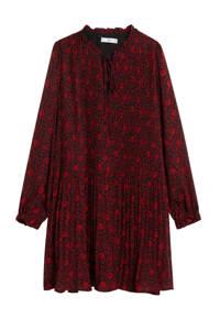 Mango jurk met all over print rood, Rood