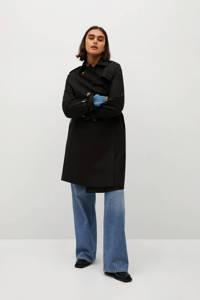 Violeta by Mango trenchcoat met ceintuur zwart, Zwart