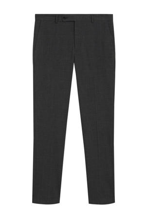 geruite slim fit pantalon zwart