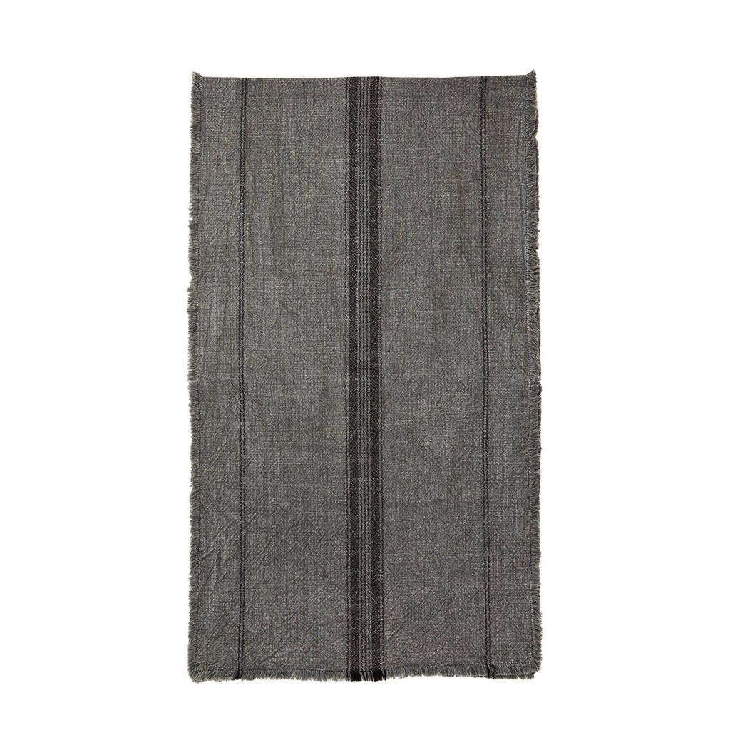 Madam Stoltz tafelloper (140x40 cm), donkergrijs/zwart